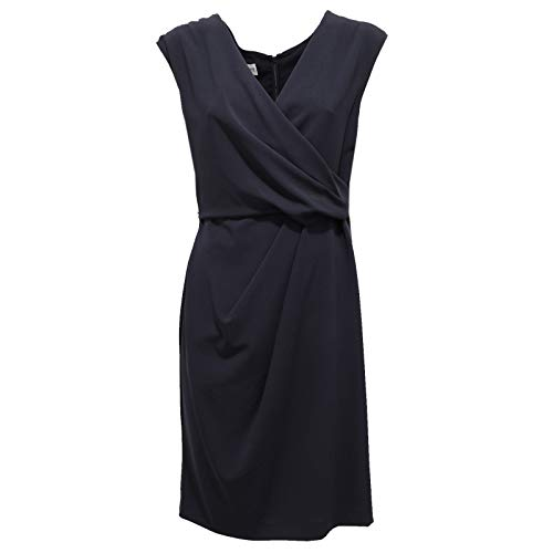 Armani 2435AA Abito Donna Collezioni Vestito Blue Virgin Wool Dress Woman [44]