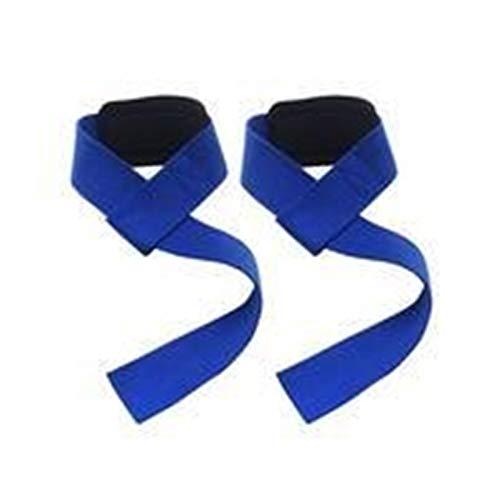 Gimnasio Correas De Elevación Levantamiento De Pesas Muñeca Cinturón De Pesas Guantes De Culturismo For Mujeres Hombres Fitness Barbells Adjustable (Color : Blue)