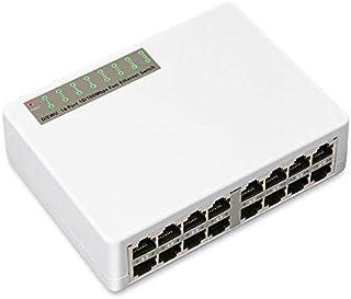 أضف على البطاقات - 16 منفذ صغير 10/100 ميجا بايت بالثانية إيثرنت السريع LAN RJ45 Vlan شبكة محول وصلة محور تمديد للكمبيوتر ...