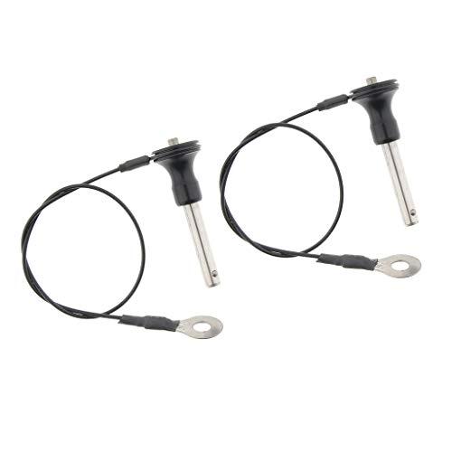 kowaku 2 Teiliger Edelstahl Kugelverschluss Schnellverschlussstift Druckknopf mit 23 Cm Lanyard
