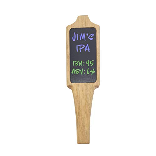 Beer Tap Handle with Customizable Chalkboard or White Dry-Erase Marker Board. Works on all Coffee Tea Kombucha Bar Taps including Kegerator.