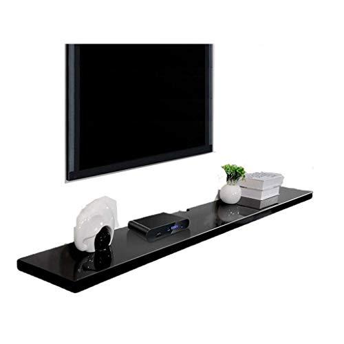Drijvende plank drijvende plank muur TV kast muur achtergrond plank open plank dvd satelliet TV doos kabel doos muur plank Woord partitie Maat: 120CM Modern design size Zwart