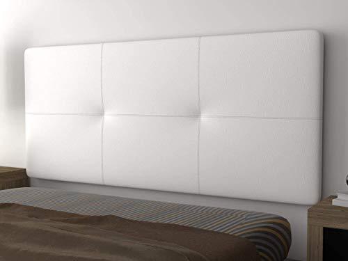 LA WEB DEL COLCHON - Cabecero tapizado Andrea para Cama de 180 (190 x 70 cms) Blanco