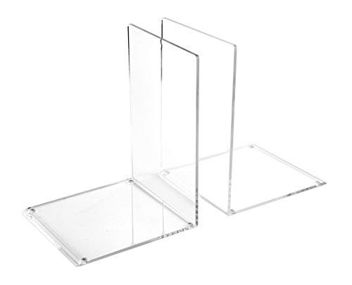 Osco Große Buchstütze aus Acryl, transparent (2Stück)
