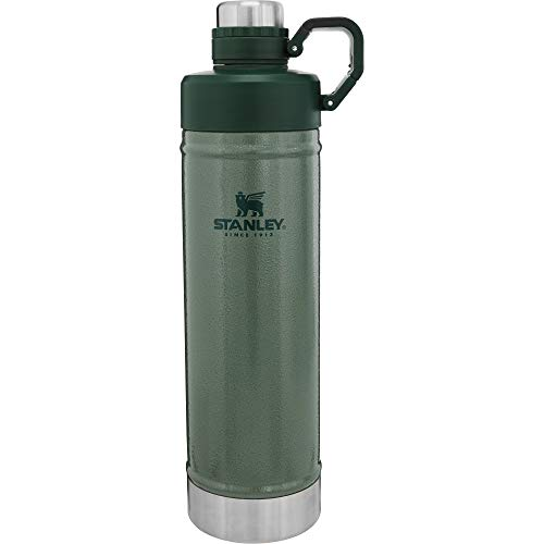 Stanley Classic Easy-Clean Water Bottle 25oz with Never Lose Hinged Leak Proof Lid, Stainless Steel Thermos for Cold Beverages, Wide Mouth Insulated Thermos,
