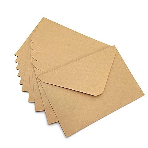 Noa Home Deco sobres (100 piezas) de papel Kraft antiguo/sin ventana - C6-163 x 112 mm, envolventes, la cierro, NHD06