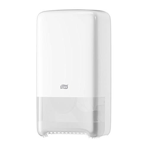 Tork 557500 - Dispensador de rollos de papel higiénico (tamaño mediano), color blanco