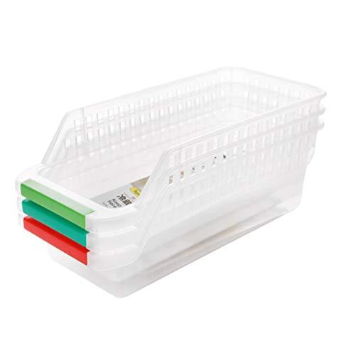 Caja de almacenamiento para nevera, organizador de almacenamiento para nevera, caja recolectora de cocina con mango de fruta