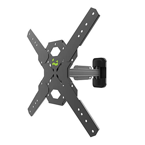 Kanto PS200 Full Motion Articulating TV Wall Mount for 26-inch to 60-inch TVs | Integrated Cable Management | Low Profile and 14 Inch Extension | Single Stud Wallplate