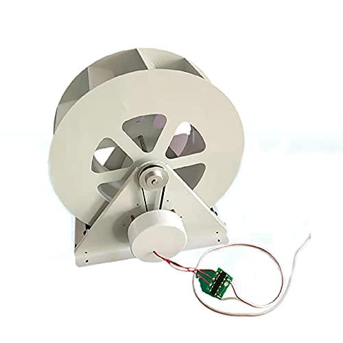 50W 100W Generador Hidrogenerador Cámara De Agua Generador Hidroeléctrico Generador Bajo-Velocidad Disco Generación De Energía Decoración del Paisaje Exterior-Generador de Ruedas de Agua 50w