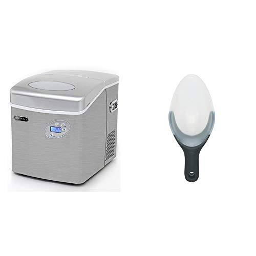 Whynter IMC-491DC Portable 49lb Capacity Stainless Steel with Water Connection Ice Makers, One Size & OXO Good Grips Flexible Scoop