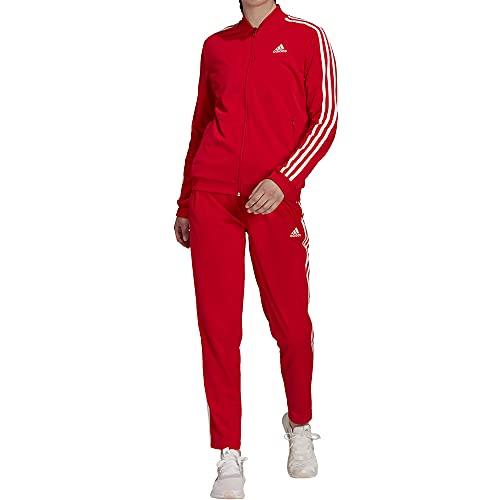 adidas W 3S TR TS Tuta da Ginnastica, Vivid Red/White, S Donna