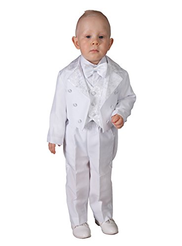 Kostüm Frack für Babys bis 6 Jahre, Weiß oder Elfenbein, Weiß 86