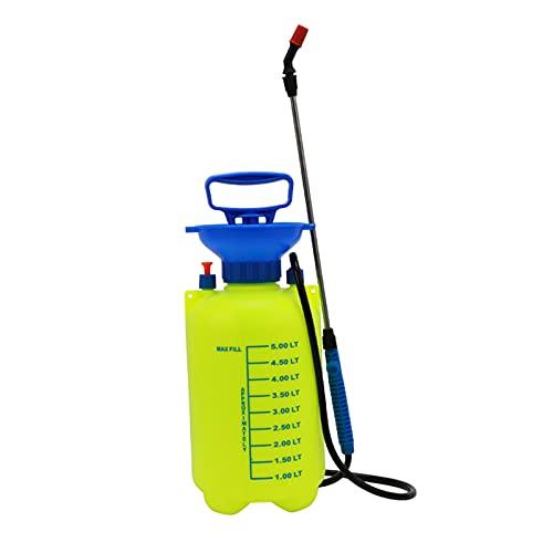 H HILABEE Garden Sprayer 1Gal Lawn Pump Sprayer Brass Wand Garden Watering...