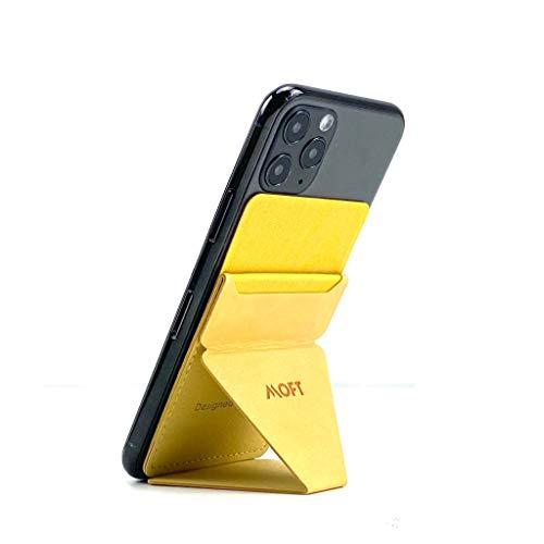 MOFT X 最薄クラス iPhone Android スマホスタンド スマホホルダー スキミング防止カードケース (イエロー)