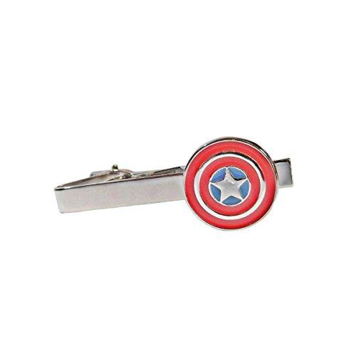 Marvel Comics Captain America Schild Logo Herren Jungen Krawattenklammer mit Geschenkbox