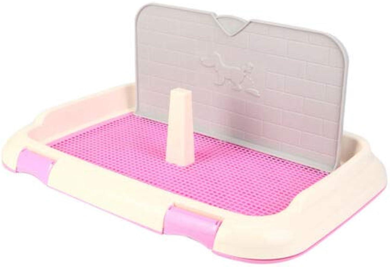 FidgetKute Indoor Pet Potty Puppy Toilet Dog mesh Potty Toilet with Simulation Wall Pink