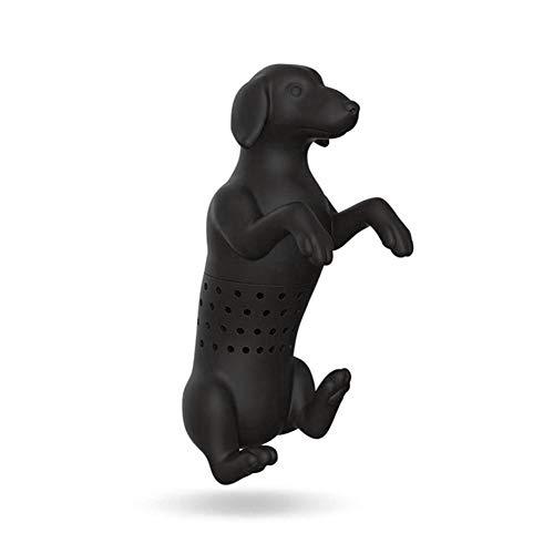 luckything Silikon Nette Hund-Form Teeblatt Kräutersiebfilter Aufgussbeutel Spielzeug, Teesieb Aus Lebensmittel Silikon, Hübsches Teeei Silikon Aufgussbeutel Und Sieb Für Lose Blätter Tee, Kräuter