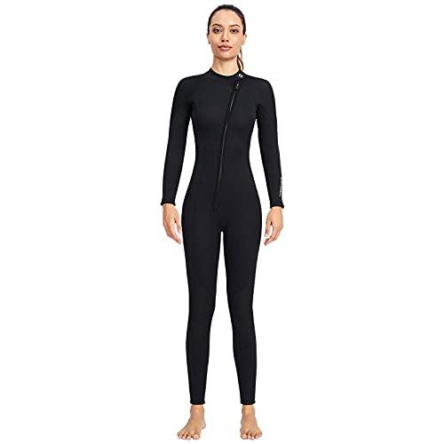 POOPFIY Traje de Neopreno Unisex 3mm Buceo Vela Equipo de Surf, Traje para Deportes acuáticos Buceo Surfing Snorkeling,Women,L