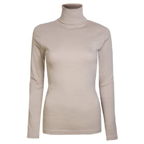 Brody & Co. Womens Roll Necks Ladies Polo Neck Tops Exclusively Plain Winter Ski Quality Stretch Jersey Cotton