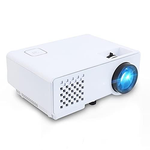 LOGGO Mini proyector 2800 lúmenes para Full HD 1080p, Pantalla de sincronización inalámbrica para teléfono, LED Portátil de Cine en casa