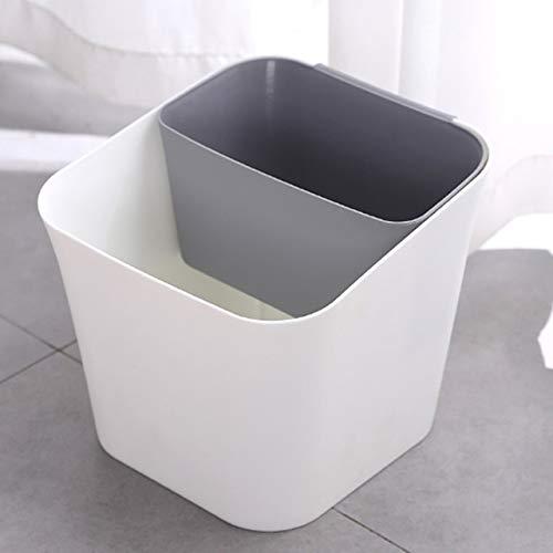 Xcwsmdq Mülleimer Trocken- und Nass Trennung Trash Can Multifunktionale Haushalt Wohnzimmer Küche Dual-Use-Klassifizierung Badezimmer Trash Can Reinigungsmittel (Color : Gray)