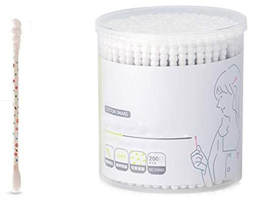 Cotons-tiges de sécurité 200 pièces Coton-tige à double pointe Bâtons de nettoyage polyvalents #21