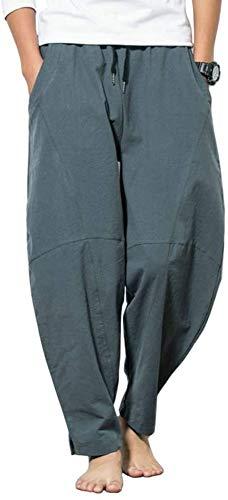 NOLLY Stora harembyxor för män bomull säckiga yogabyxor gym elastiska byxor, C-30