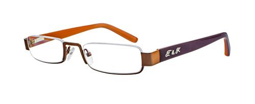 Edison & King Lesebrille – Klassische Halbrandbrille mit Entspiegelung und Härtung Stärken (Braun-Hellbraun), 1,50 dpt