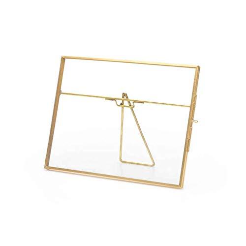 Black Velvet Studio Vintage Retro-Foto-Rahmen aus Metall Messing - Kupfer Gold Transparent Glass. Altmodisch elegant dekorativer Stil. Größe 15 * 20 * 1cm.