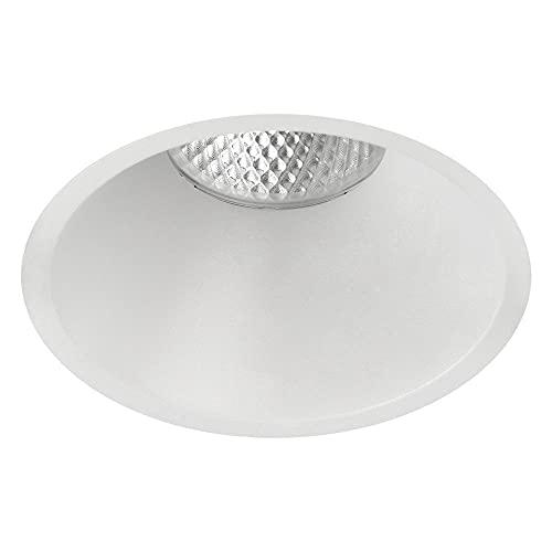 KIDAL 3771/10 - Lámpara led empotrable para techo (IP23, diámetro de 10 cm, COB, 12 W, 3000 K, 1080 lm, intensidad regulable), color blanco