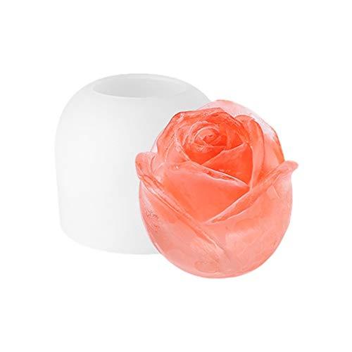 YWSZJ 3D Rose Blume Handwerk Kunst Silikonform Für Cocktail, Whisky, Bourbon, Pudding, Cola (Size : Large)