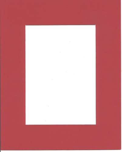 16x20 Bright Red Picture Mats with White Core Bevel Cut for 11x14 Pictures
