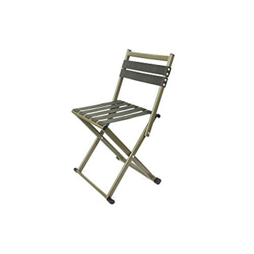 Tabouret De Fer Pliant Simple, Canapé D'étude Table Basse Chambre Chambre Dossier en Plein Air De Pêche Portable Chaise Élégant Tabouret (Color : Green, Taille : Medium)