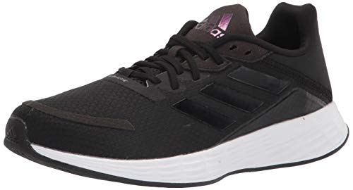 adidas Men's Duramo SL Slide Sandal, Black/Black/Grey, 8.5