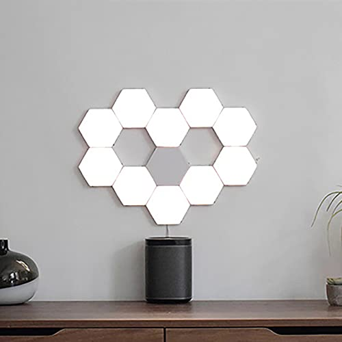 SHUAIGE Lámpara De Pared Led Lámpara De Pared con Sensor De Luz De Luz DIY DIY Magnético Geométrico Empalme Lámpara Hexagonal Honeycomb Corridor Night Light Set 3pc(Size:Establecer uno)
