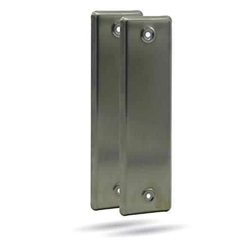 2er SET enrollador de apertura, apertura para persiana, acero inoxidable, geschlossenLA 160 mm