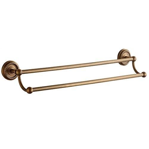 Weare Home Alle Kupfer Doppel-Handtuchhalter Messing Gelb Bronze Retro Vintage, Wandmotage Wandhalter extra Stark