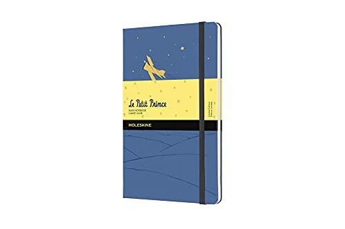 Moleskine El Principito - Cuaderno con páginas rayadas, tamaño grande 13 x 21 cm, color azul no me olvides