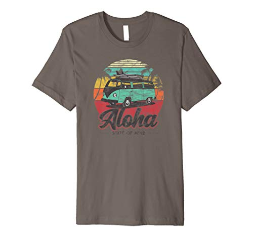 Aloha Hawaii- Retro Surf Beach Van Vintage Hawaiian Premium T-Shirt