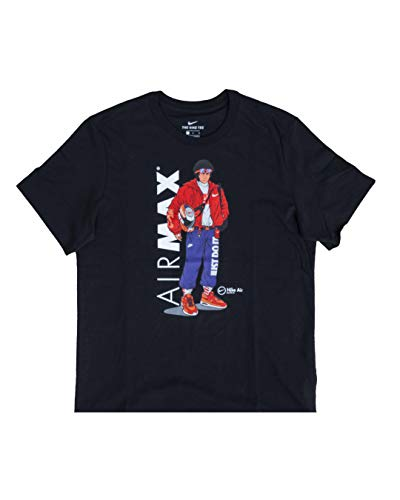 Nike M NSW Tee Manga HYPEMAN T-Shirt, Black, L Uomo