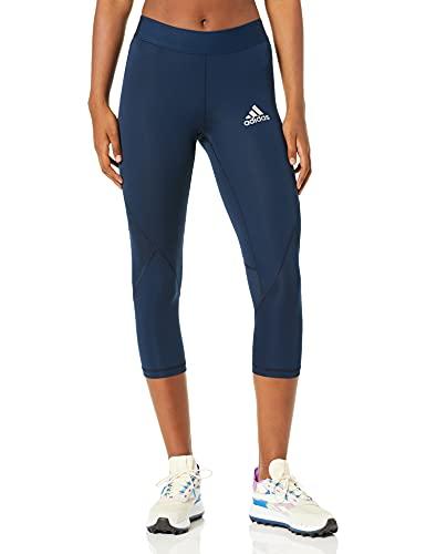 adidas Entrenamiento Alphaskin Sport 3/4 Ajustado para Mujer, Mujer, Ajustado, CY9133, Azul Marino, XS