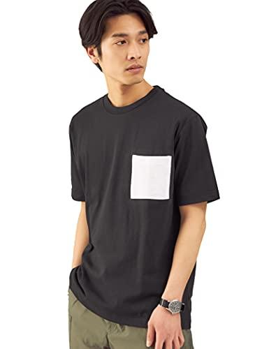 (ユナイテッドアローズ グリーンレーベル リラクシング) < 機能性/吸水速乾 > ドライ コンビ ポケット クルーネック Tシャツ # 32171994985 0930 BLACK(09) S
