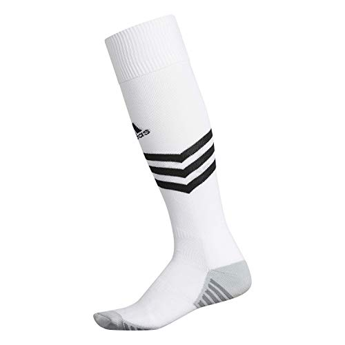 adidas Unisex Mundial Zone Cushion Soccer Socks (1-Pair), White/Black/Light Onix/Onix, 9-13