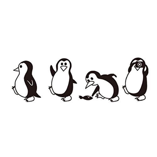 Adhesivo decorativo para pared, diseño de pingüinos