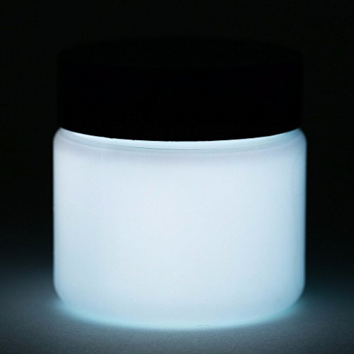 Glow in The Dark Paint - Premium Artist's Acrylic - Neutral Colors - 1 Ounce (Neutral White)
