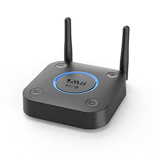 1Mii Großer Reichweite Bluetooth-Empfänger,HiFi Drahtloser Audio Adapter, Bluetooth 5.0-Empfänger mit 3D Surround aptX Optisches RCA AUX 3,5mm Koaxial für Heim Stereosysteme,Geringer Latenz (B0301-A)