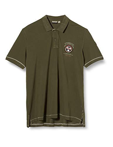 Napapijri Herren ELICE Poloshirt, Grün (Green Way GW11), Medium (Herstellergröße:M)