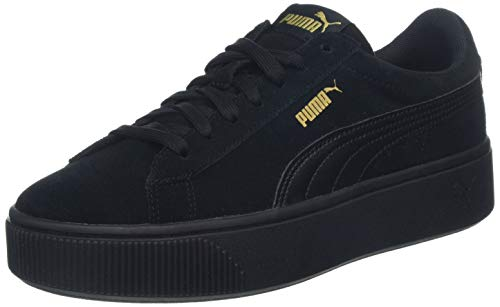 PUMA Damen Vikky Stacked SD Sneaker, Schwarz (Puma Black-Puma Black), 36 EU