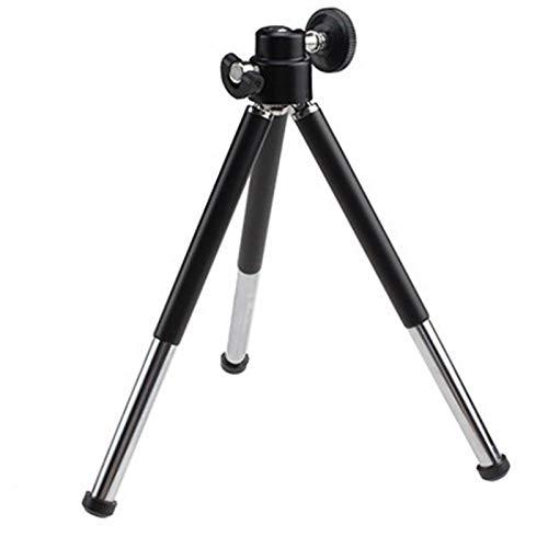 RH-HPC Titular de la Lente de la cámara 1pcs Negro Mini trípode de Aluminio del Metal Ligero Soporte del trípode de cámara Webcam Montaje for telefonía Digital DV trípode Trípode para cámara